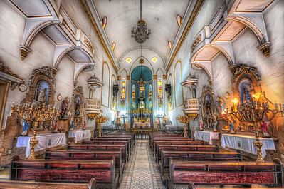 In 1929, architecture gave way to a neoclassical style, with influences of Mexican architecture. It was in this church that Joaquim José da Silva Xavier, Tiradentes, attended his last mass before going to the gallows on April 21st, 1792.  Equipment=Nikon D7000 Lens Used=Tamron SP AF 10-24mm F/3.5-4.5 Lens Exposures=7 Location=Rio de Janeiro, Brazil  Workflow= PhotoMatix 4.2 Adobe PhotoShop Cs6 Adobe Light room 4.1 Software, Nik Color Efex=Detail Extractor, Glamor Glow, Tonal Contrast, and Darken/Lighten Center Topaz Adjust= Photo Pop