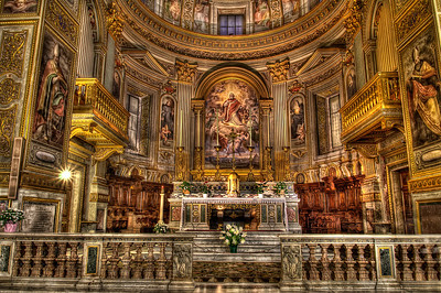 My Most favorite Church in Rome!!   Equipment= Canon T3 Rebel Lens Used=Tamron SP AF 10-24mm F/3.5-4.5 Lens Exposures=7 Location=Rome Italy Workflow= PhotoMatix, Adobe PhotoShop Cs6 beta Software, Nik Color Efex=Detail Extractor, Tonal Contrast, and Glamor Glow