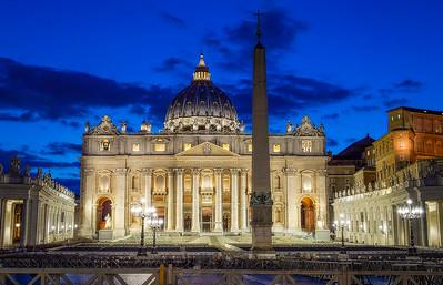 The Papal Basilica of St. Peter (St. Peter's Basilica) 32 Bit Processing