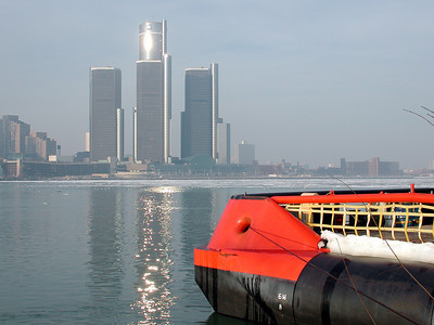 City of Detroit, a view from Windsor, ONT  Canada