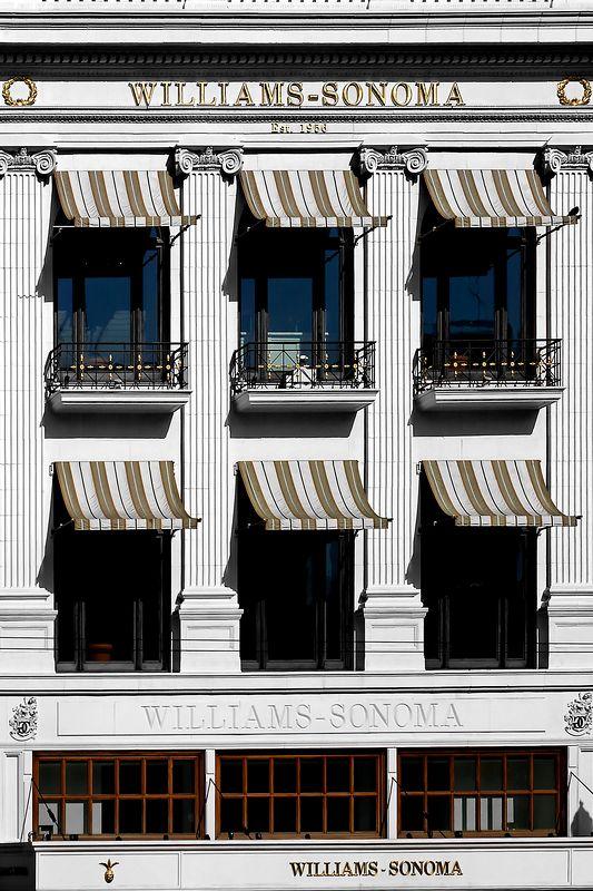 Williams-Sonoma building on Union Square, San Francsico, CA.
