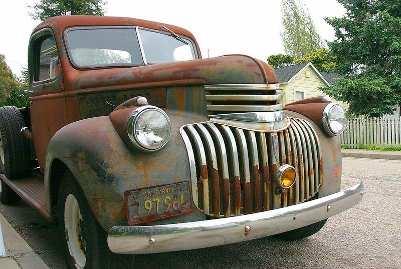 Rusted old truck, Santa Cruz, California.