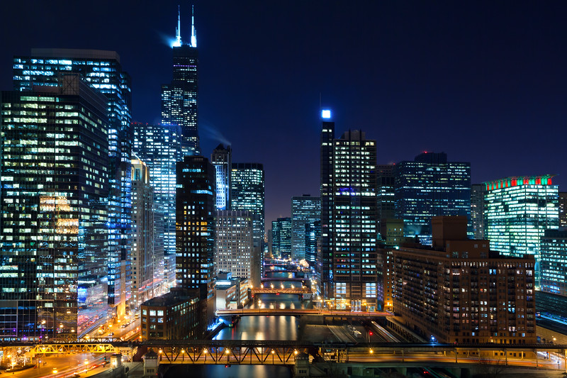 Chicago at night. #4