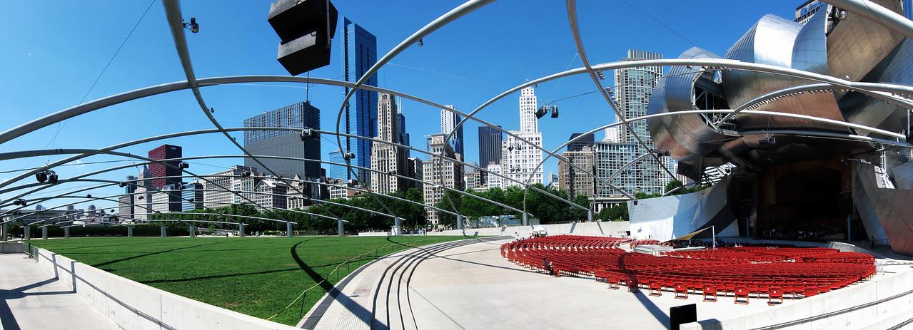 Millennium Park Chicago Skyline Daytime Panorama