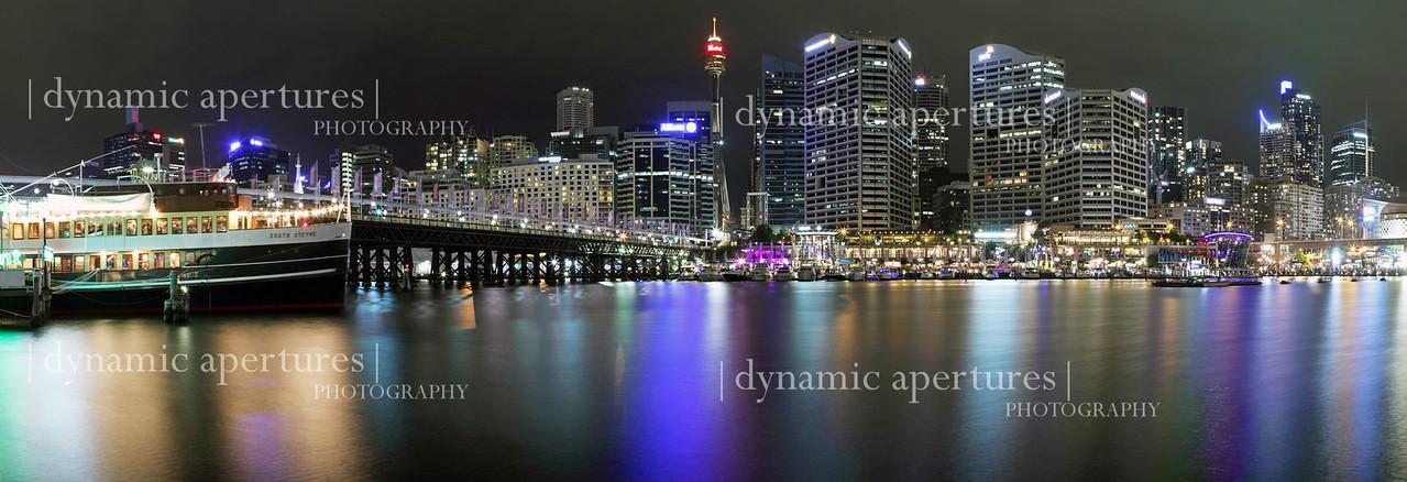 Sydney Darling Harbor panorama.