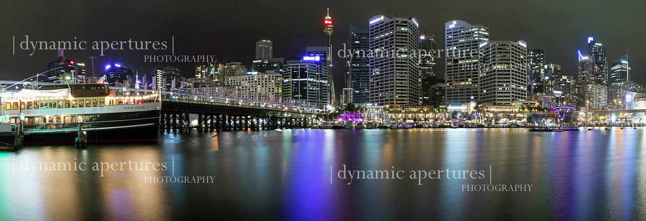 Sydney Darling Harbor panorama.