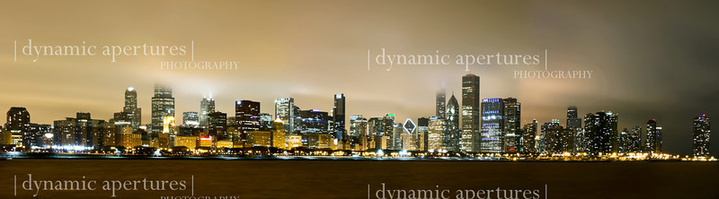 Chicago Skyline Panorama - Adler Planetarium Viewpoint