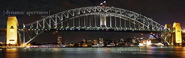Panoramic view of the Sydney Harbor Bridge