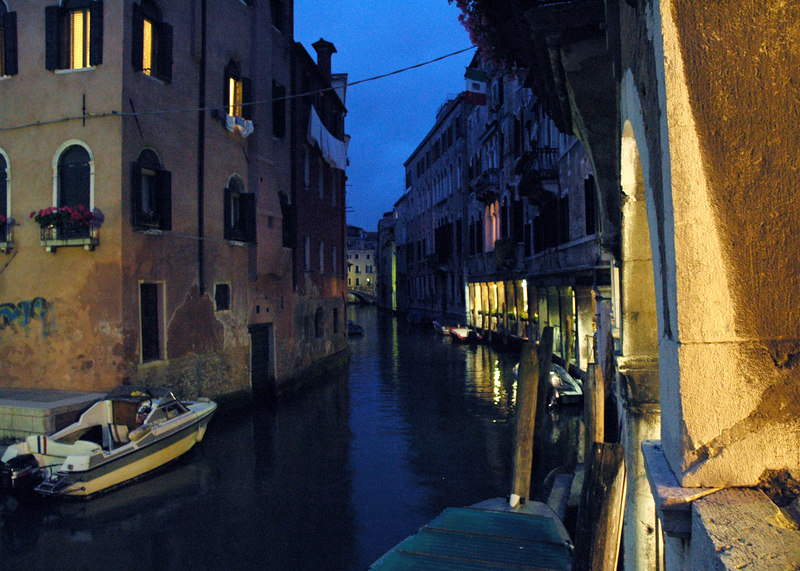 June 3rd, 2006.<br /> Venezia at night right after the coming back from the best cappucino ever at the Cafe Florian in St. Marks' Square.