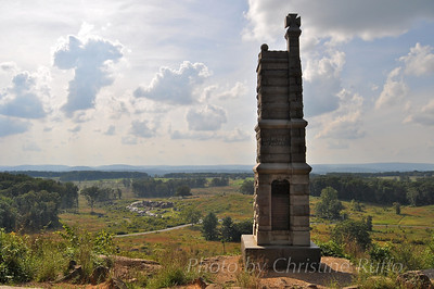 View from Little Round Top. Gettysburg National Military Park