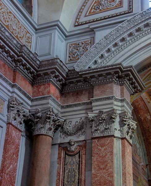 Column detail inside Santa Maria degli Angeli.