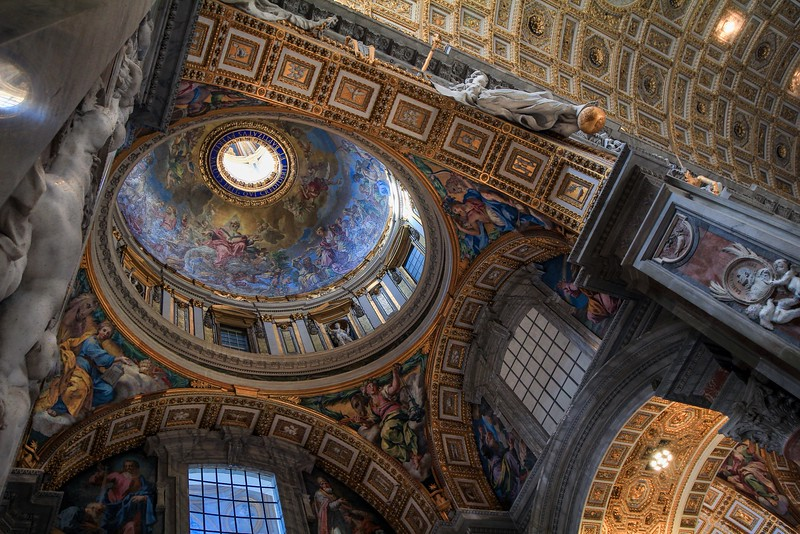 Side chapel inside St. Peter's Basilica.