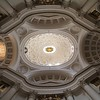 Ceiling of San Carlo alle Quattro Fontane. The city noises do not penetrate these churches-this one was pin drop quiet.
