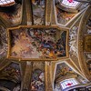 A closer view of the ceiling art in Santa Maria Maddelena.