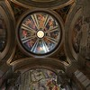Wider view of St. Ignacious Loyola side chapel dome, looking straight up.