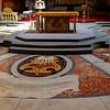 Inlaid marble floor of Chiesa Nuova.