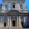 Facade of Chiesa Nuova. Approaching each of these churches gave me a great sense of anticipation, knowing the artistic glories that awaited my viewfinder.