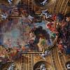 Church of the Gesu, ceiling detail closeup.