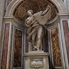 Magnificent marble statue of St. Veronica in St. Peter's Basilica, carved by F. mochi in 1640.
