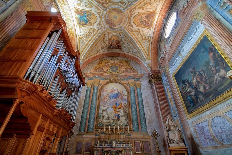 Prayer chapel in Santa Maria degli Angeli.