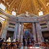The Bernini-designed nave of Sant Andrea al Quiinale is a unique oval shape and very pleasing to enter.