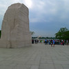 In this view you can see how the statue of MLK is situated so that he stares at Jefferson through all eternity!  LOL