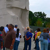 One more attempt to capture the park service guy.  Here he's gesturing toward the sculpture.