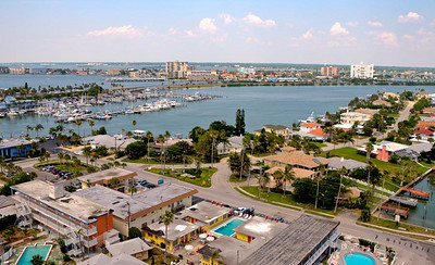Views of Clearwater from the top of The Hyatt Aqualea Hotel