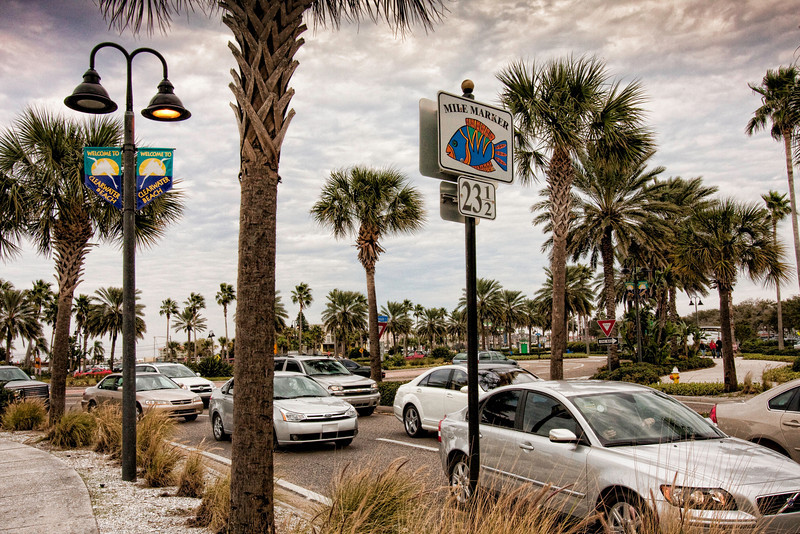 Clearwater Beach, the day after Christmas. It was cold and windy.