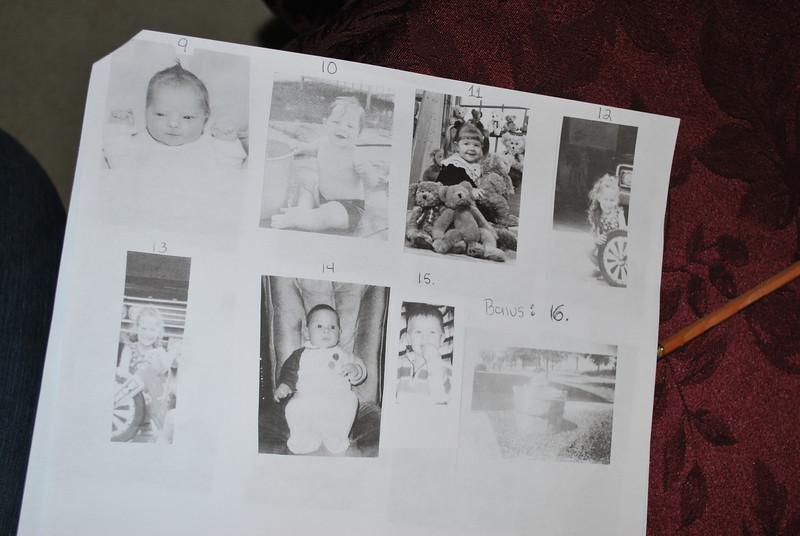 9) Victoria, 10) Uncle Dave, 11) Katherine, 12) Aunt Debbie, 13) Aunt Diane, 14) Uncle Dan, 15) Matthew, 16) Grandma Schwab