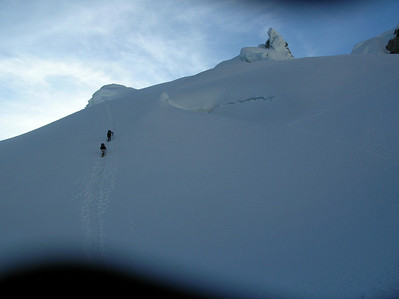 Trudging up the glacier on Mt. Pisco