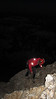 After a quick breakfast we started climbing in the dark with headlamps. (Photo: Kyle Fernley)