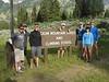 The group of seven climbers: Kyle Fernley, Pete Simone, Ben Freeman, Rob Fernley, Lou Borie, Elise Fernley, David Fernley. (Photo: Randy Fernley)