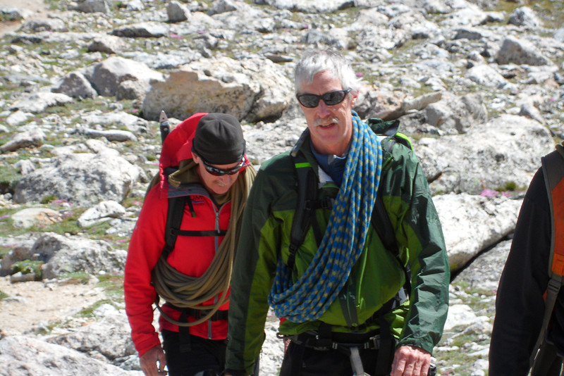 Lou arriving back at the Lower Saddle, followed by guide Dave Bowers.(Photo: Rob Fernley)