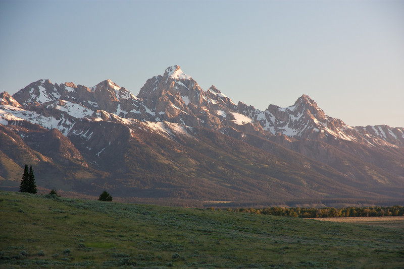 The Tetons. One of the most striking mountain ranges in North America.