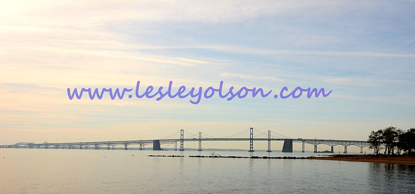 Bay Bridge over the Chesapeake in MD near Annapolis.