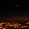 Jupiter, Venus and Cresent Moon - Nov 30, 2008. Close approach of Jupiter and Venus with the new moon over Berkeley and San Francisco. &#169: Jon Bertsch