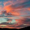 Sunset over Frenchman's lake, California