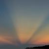 Sunbeams at dawn, Indonesia