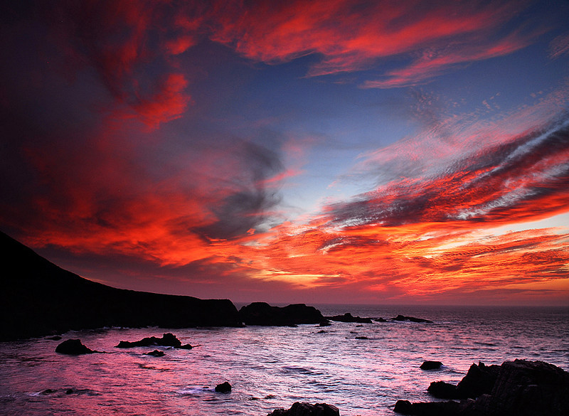 Sunset over the Central Coast, California