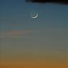 Moon at sunset, Hawaii