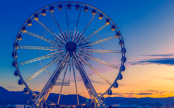 Coachella Wheel @ Sunset