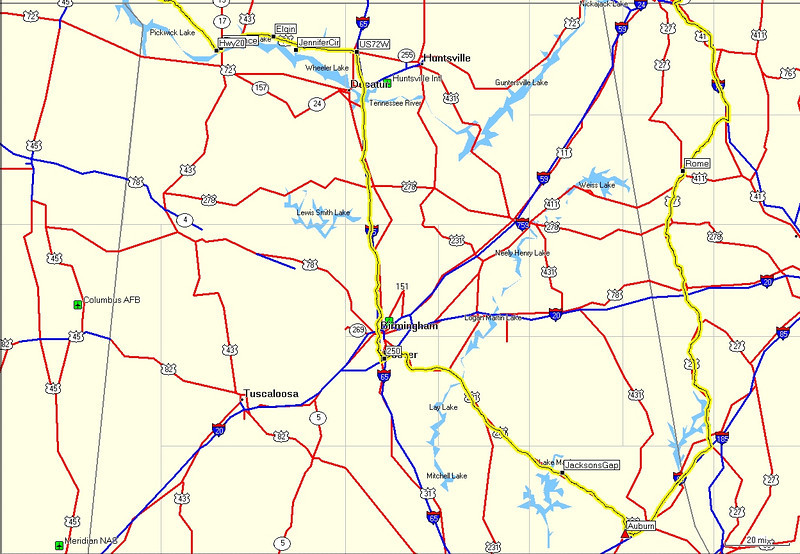 Day 1 <br /> Auburn, AL to Rogersville, AL