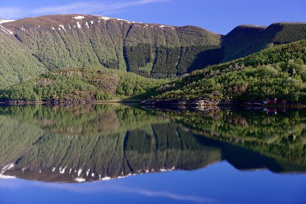 Holandsfjord, near the Svartisen Glacier.