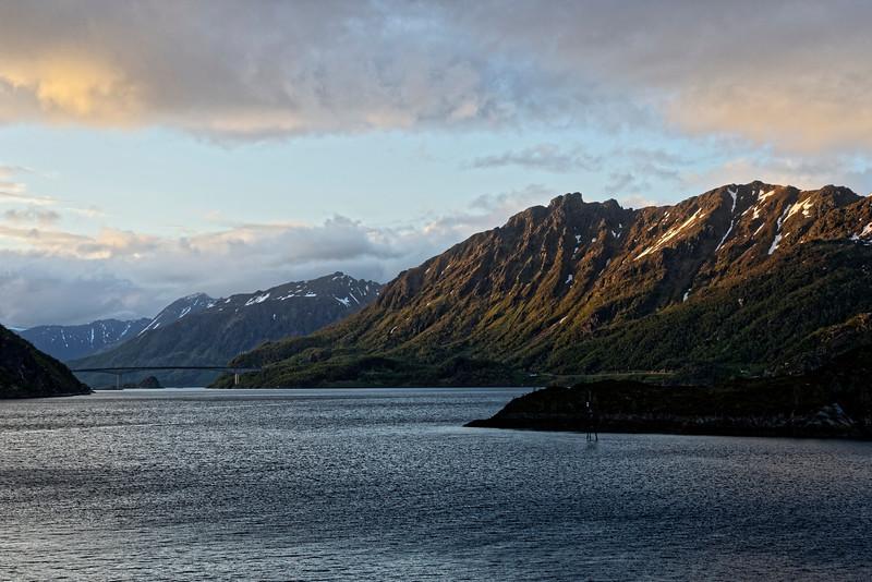 Low light, fjord cruising.