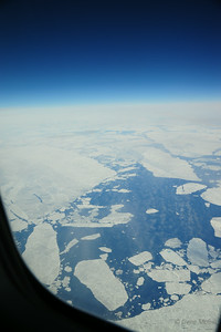 Shortly after this we flew over a cloud layer that persisted all the way to Northeast Greenland.