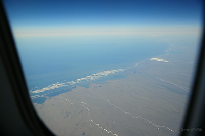 And over the barrier islands on the Arctic Coast . . .