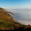Looking back towards San Francisco, with fog hanging over the Pacific coast.