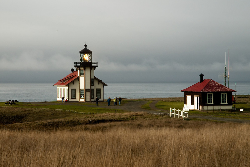 The Point Cabrillo lighthouse was built in 1909 and is located just north of Mendocino.