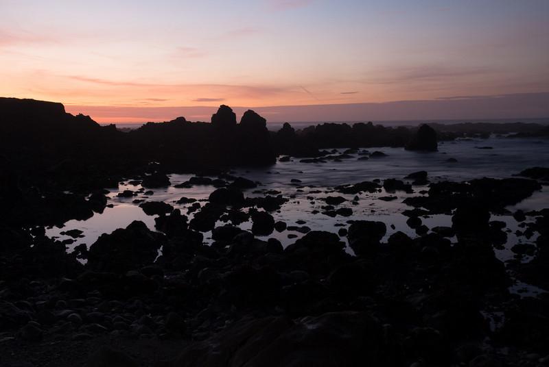 Sunset over MacKerricher beach.